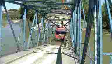 srušen most na Kolubari